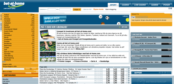 Bet-at-Home Sportsbook Screenshot