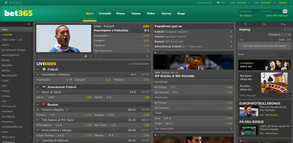 SpelbolagBet365 Sportsbook Screenshot