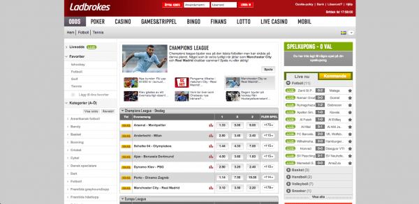 Ladbroke Sportsbook Screenshot